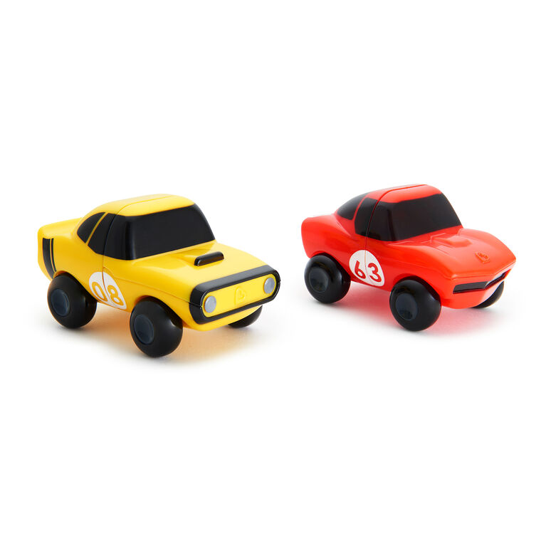 Magnet Motors Bath Toys 2-Pack - Red/Yellow