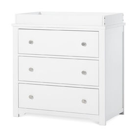 Forever Eclectic by Child Craft Wilmington 3-Drawer Dresser with Dressing Kit, Matte White