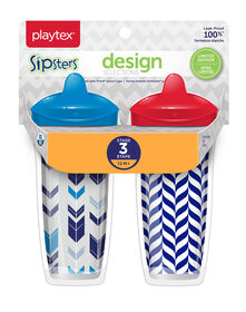 Playtex Sipsters Design Selections Stage 3, 9oz - Pink