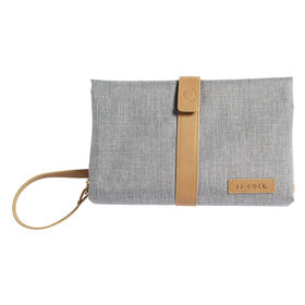 JJ Cole Changing Clutch - Heather Grey with Tan