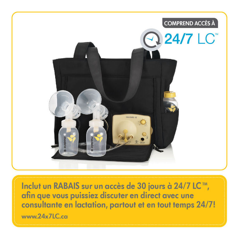 Medela Pump in Style Breastpump Slouch bag- with BPA-Free Bottles