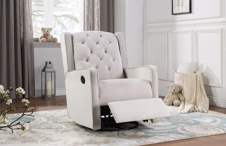 Lennox Furniture Capri Glider Recliner Swivel Off-White