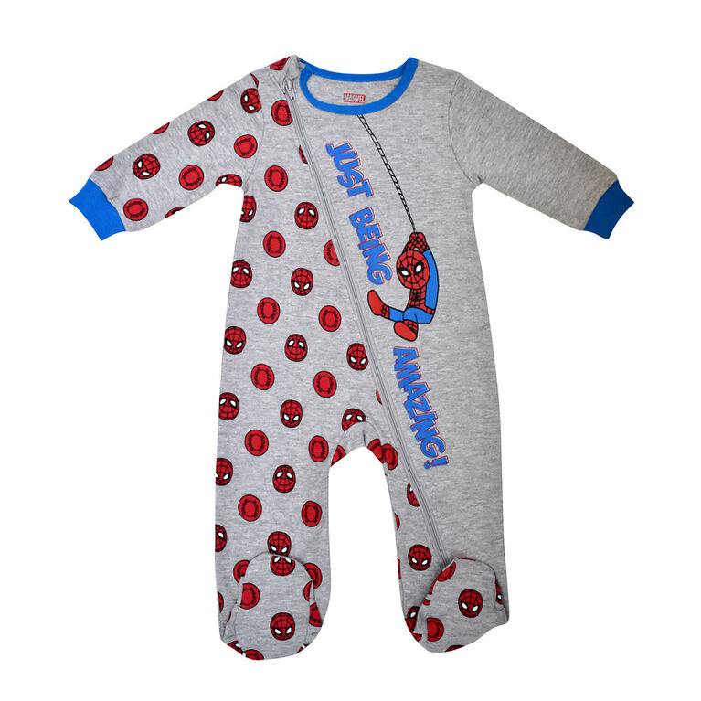 Marvel Spiderman 1pc sleeper - Grey, 18 months
