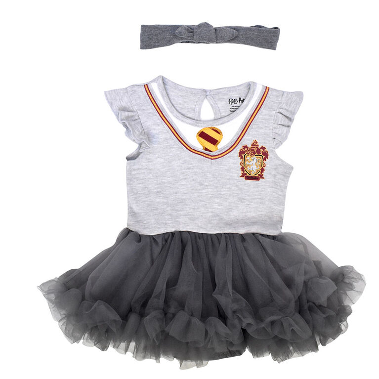 Warner's Harry Potter Tutu dress with headband - Grey, 6 Months