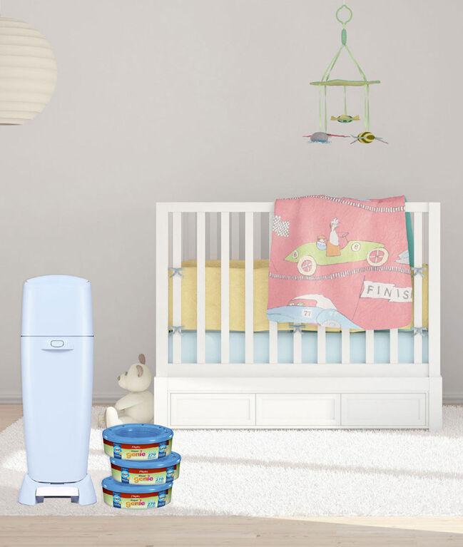 Poubelle à couches Diaper Genie Elite de Playtex Baby - Bleu bébé