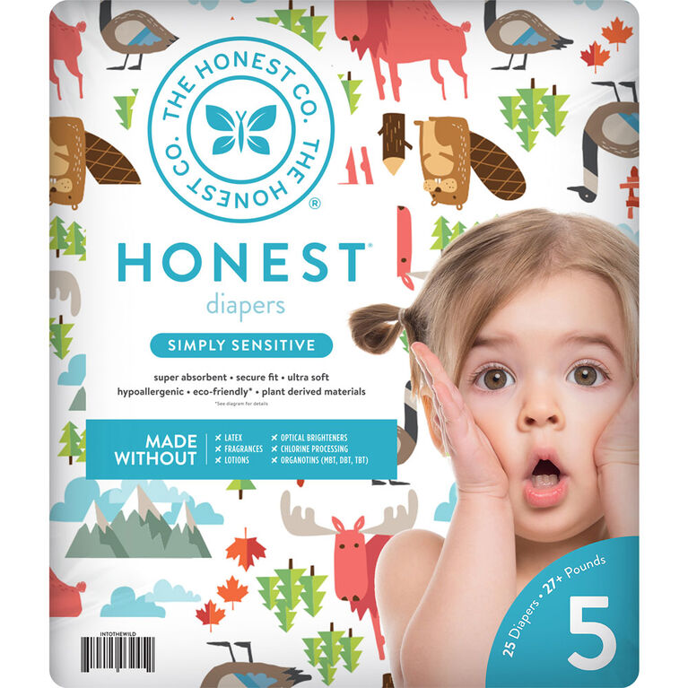 Honest Diapers Size 5 Ca National Print