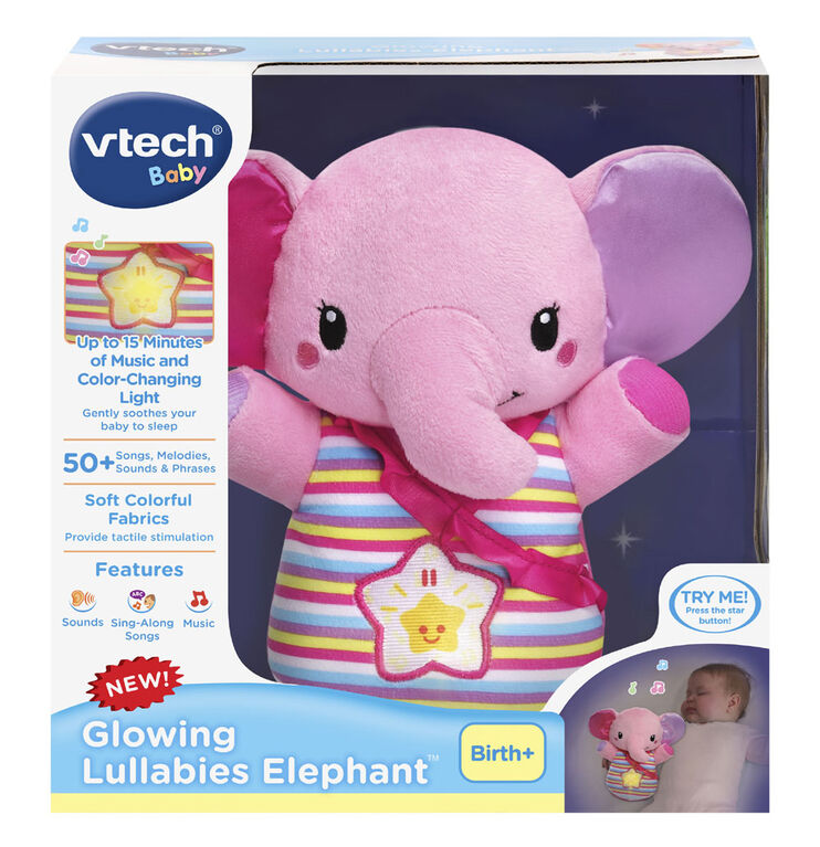 Vtech - Glowing Lullabies Elephant (Pink) - English Edition
