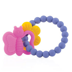 Nuby Chewy Charms Soothing Teether - Flower & Butterfly