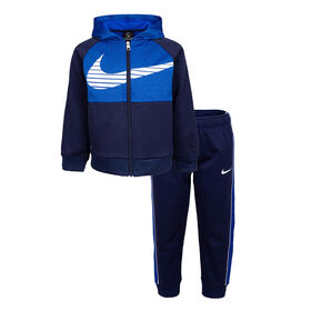 Nike Colorblocked Thermal Set -Navy With Royal , Size 24 Months