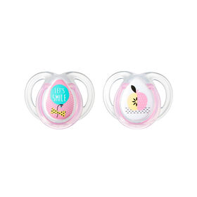 Tommee Tippee 2-Pack 0-6 Months Everyday Pacifier - Pink