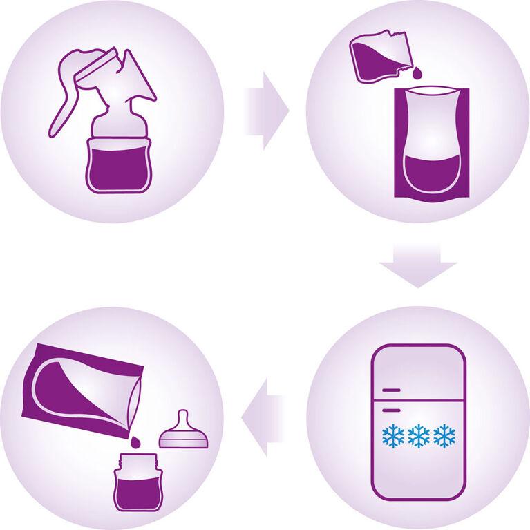 Philips Avent Breast Milk Storage Bags 50 Count 6oz/180ml