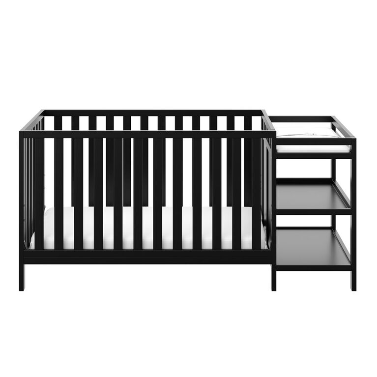 Storkcraft Pacific 4-in-1 Convertible Crib and Changer - Black.