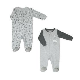 Paquet De 2 Dormeuses Koala Baby - Ours Gris, Premature