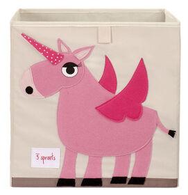 3 Sprouts Storage Box Unicorn - Pink
