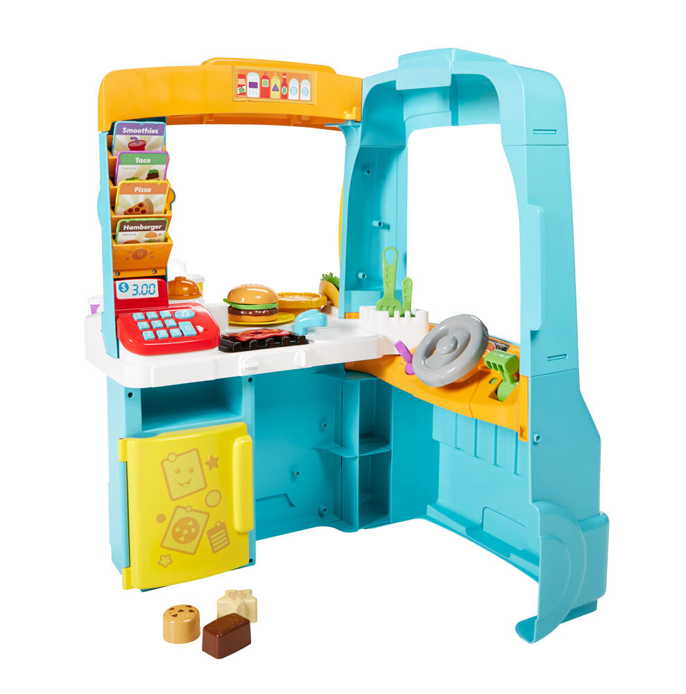 French Edition Fisher-Price Laugh /& Learn Servin/' Up Fun Food Truck
