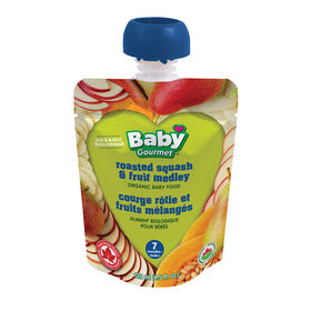 Baby Gourmet Roasted Squash & Fruit Medley.