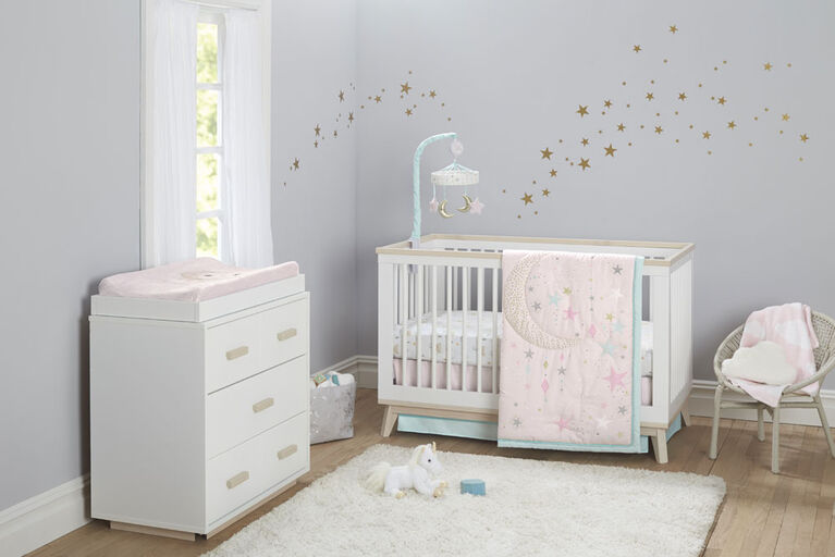Just Born Love & Sugar 3-Piece Crib Bedding Set
