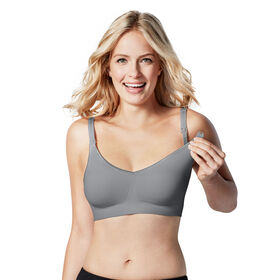 Body Silk Seamless Nursing Bra - Silver Belle, Extra Small