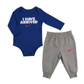 Nike - Bodysuit & Pant set - Grey, 6 Months
