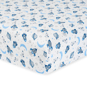 Gerber Organic Fitted Crib Sheet, Outer Space