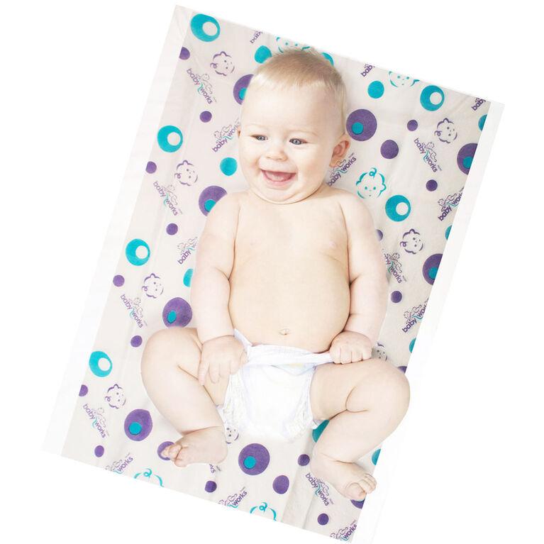 Matelas à langer jetables Baby Works (MC) - Paquet de 10.