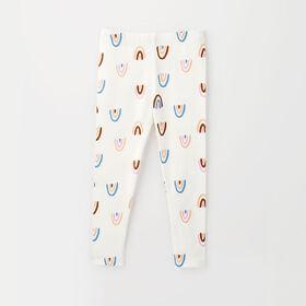 organic play legging, 6-9m - white rainbow