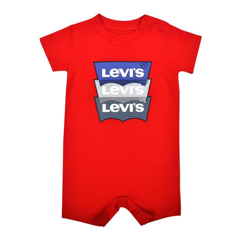 Levis Barboteuse - Rouge, 6 mois