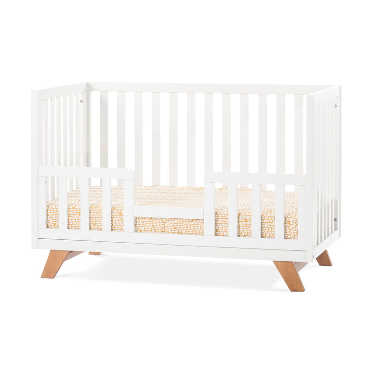 Child Craft Forever Eclectic™ SOHO 4-in-1 Convertible Crib - White/Natural