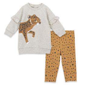 Petit Lem Cheetah, Heather Beige 9 Months