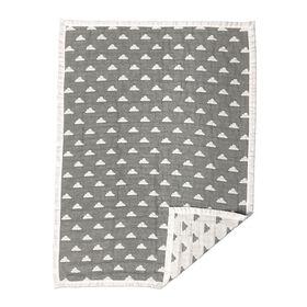 Cotton Muslin Jacquard Blanket - Grey Clouds
