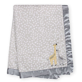 "Just Born Just the Two of Us Collectionâ""¢ Velboa Blanket - Grey"