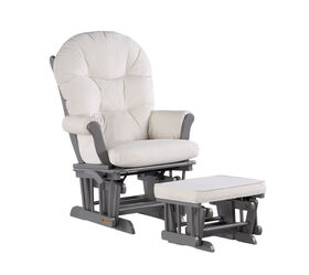 Lennox Valencia Glider Chair and Ottoman - Gray/Cream