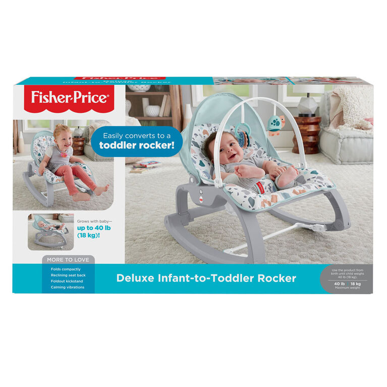 Fisher-Price Deluxe Infant-to-Toddler Rocker Seat Pacific Pebble