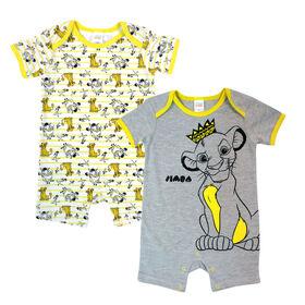Disney Lion King paquet de 2 barboteuses - gris, 12 mois