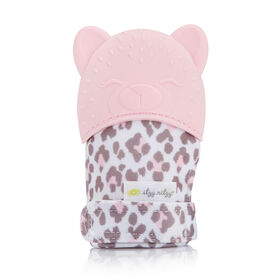 Itzy Ritzy Teething Happens Teething Mitt -Leopard