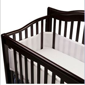 BreathableBaby Breathable Crib Bumper - White