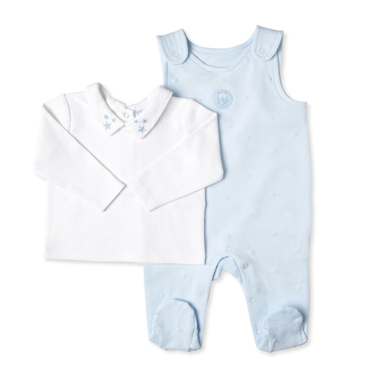 Rock a Bye Baby - Boys 2 Piece Dungaree Set : Star - 3-6 months