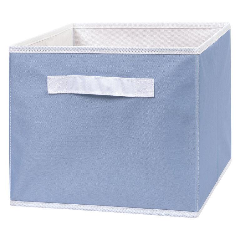 Blue Canvas Storage Bin