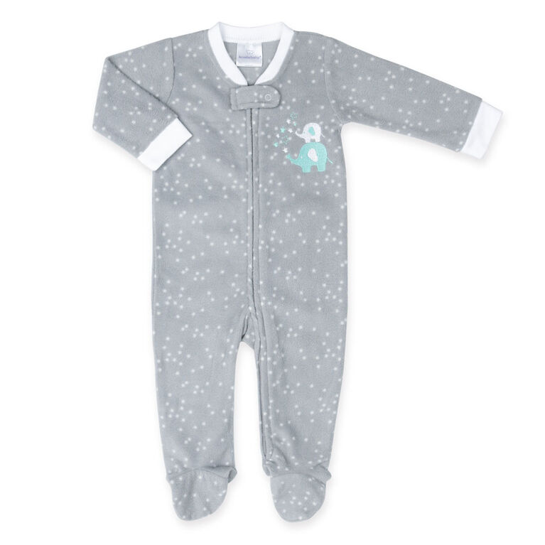 Koala Baby Grey Elephant Fleece Sleeper-Size 18-24 Months