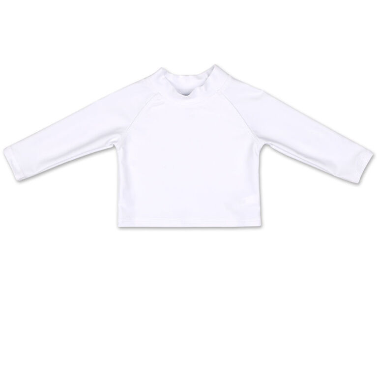 Koala Baby Long Sleeve Rash Guard Solid White 6-9 Months