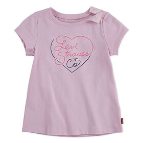 Levis Graphic Tee - Pink, 18 months