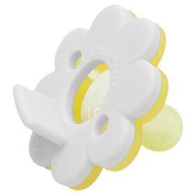 Little Toader CookieTM Pacifier -Aqua/Yellow Daisy