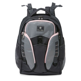 Jeep Adventurers Backpack Diaper Bag - Grey/Pink