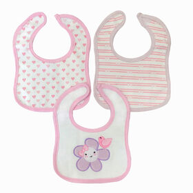 Koala Baby - 3 Pack Pink Flower Applique Jersey