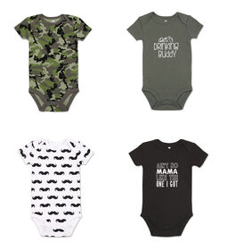 Koala Baby 4Pk Short Sleeved Bodysuit, B Camo, Newborn
