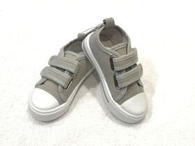Tickle toes - Grey Hard Sole Shoe - size 3