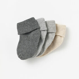 essential ankle socks, 0-6m - grey