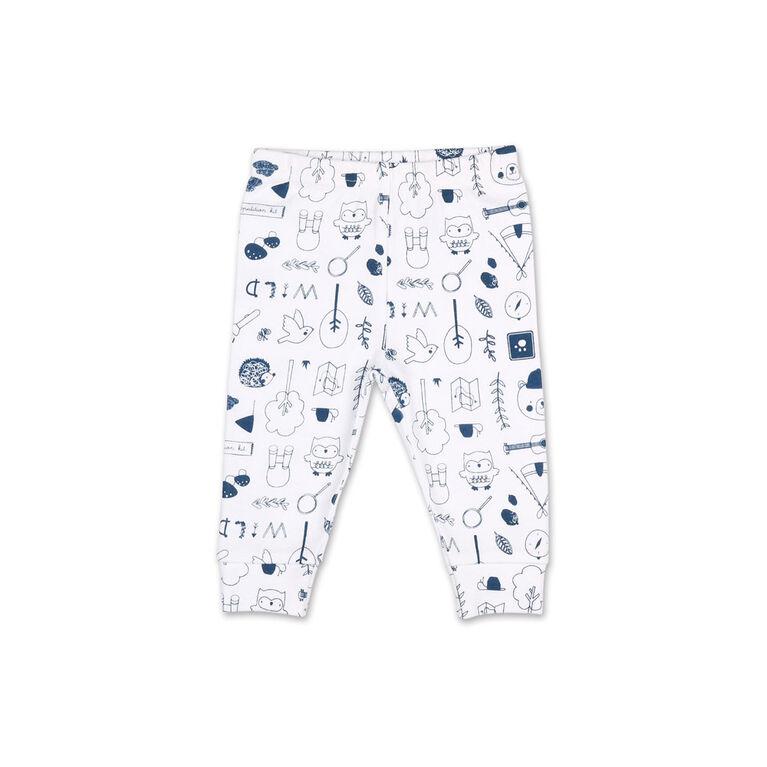 Ensemble 2pièces Koala Baby «Nature's Calling» - combinaison à manches courtes et pantalon de sport imprimé, 6-9 Mois