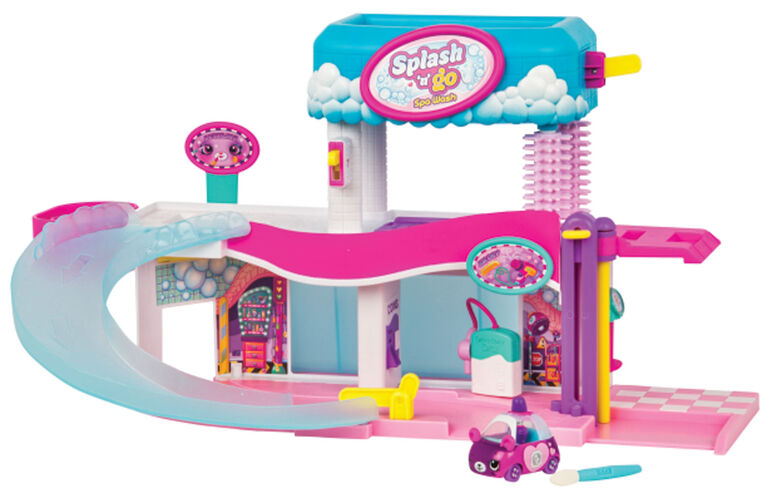 Coffret Splash N' Go Spa Wash de Cutie Cars Shopkins.