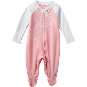 Nike footed Coverall - Pink, 6 Months